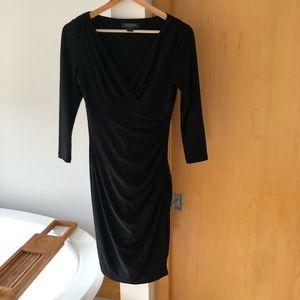 Ralph Lauren ruched waist v neck jersey dress